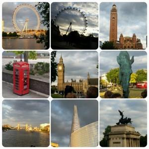 Lite från vår första dag i London
