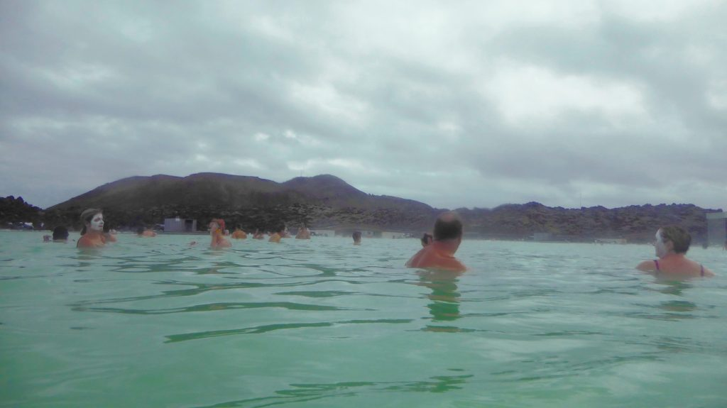 Avslappning i Blå lagunen