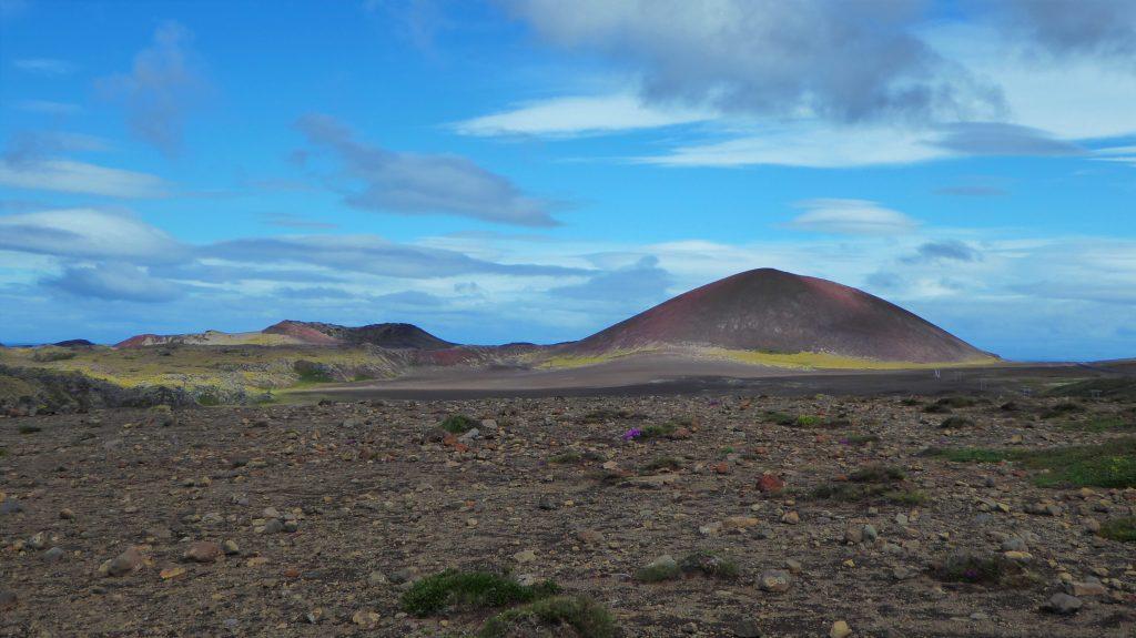 Vacker utsiktsplats i Snæfellsjökull